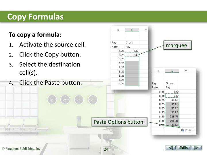 Copy Formulas