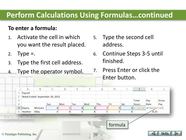 Perform Calculations Using