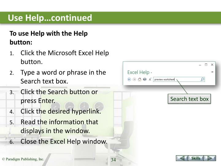 Use Help…continued