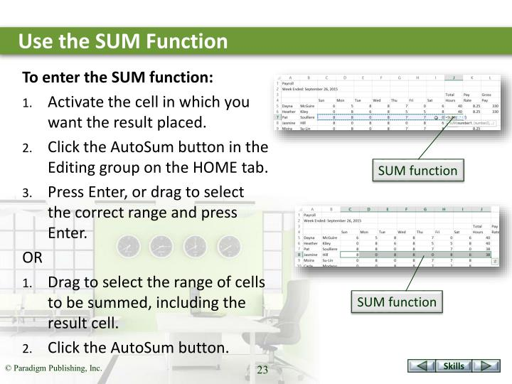 Use the SUM