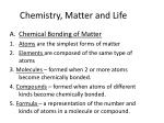 chemistry matter and life