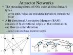 attractor networks