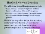 hopfield network learning