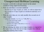 unsupervised hebbian learning