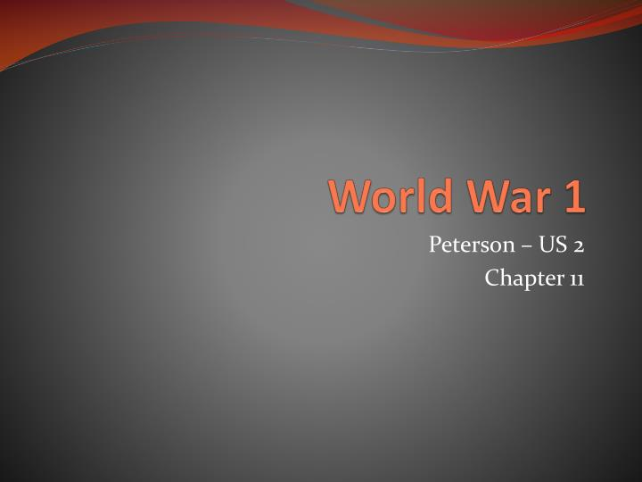 world war 1 n.
