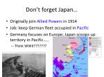 don t forget japan