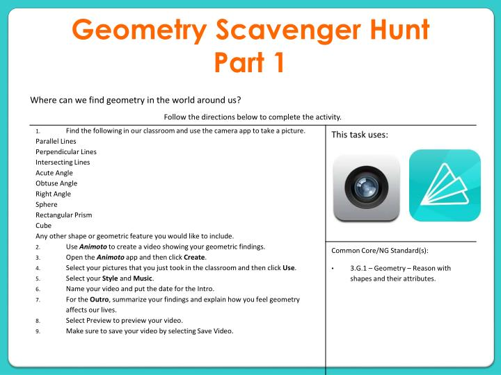 geometry scavenger hunt part 1 n.