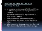 problems related to cmr rice delivery to cwc