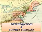 new england middle colonies