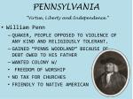 pennsylvania virtue liberty and independence
