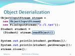 object deserialization