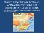 france great britain germany japan and russis carve out spheres of influence in china