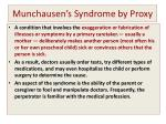 munchausen s syndrome by proxy
