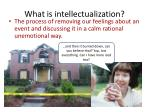 what is intellectualization