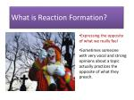 what is reaction formation