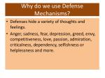 why do we use defense mechanisms1