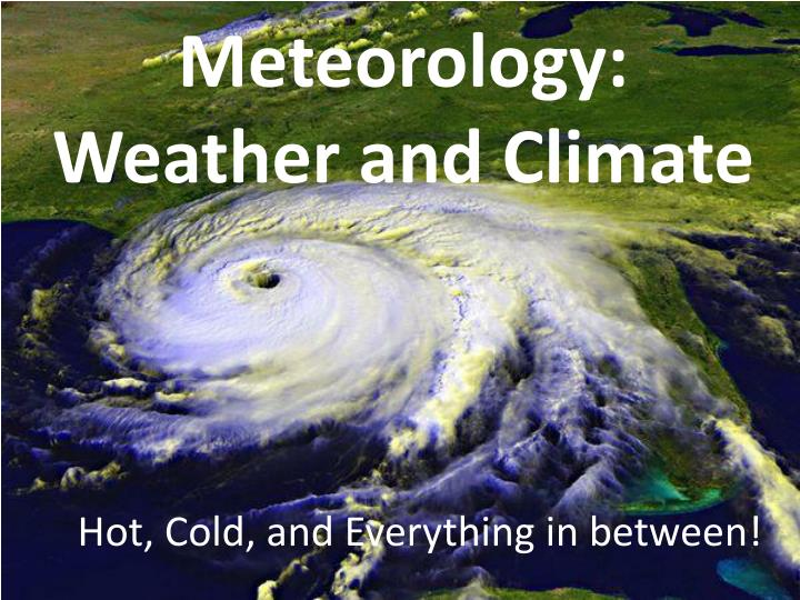meteorology weather and climate n.