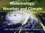 meteorology weather and climate