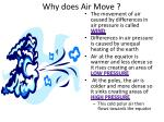 why does air move