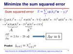 minimize the sum squared error1