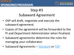 step 3 subaward agreement