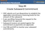 step 4 create subaward commitment