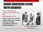 bonus marchers clash with soldiers