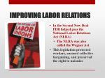 improving labor relations