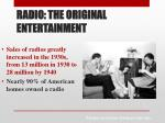 radio the original entertainment