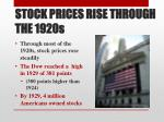 stock prices rise through the 1920s