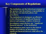 key components of regulations