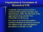 organization governance of research at unl