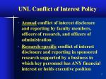 unl conflict of interest policy