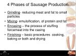 4 phases of sausage production