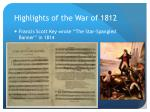 highlights of the war of 18122