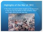 highlights of the war of 18123