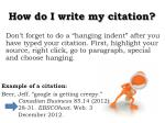how do i write my citation10