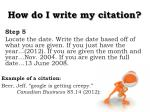how do i write my citation4