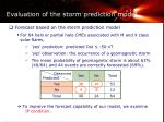 evaluation of the storm prediction model1