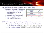 geomagnetic storm prediction model