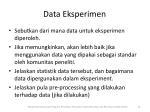data eksperimen