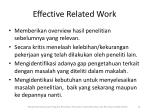 effective related work