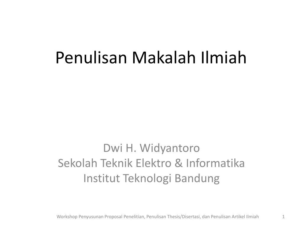 Ppt Penulisan Makalah Ilmiah Powerpoint Presentation Id 2204818