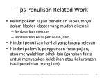 tips penulisan related work