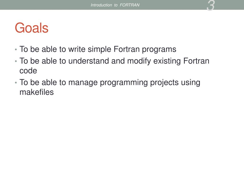 PPT - Introduction to Fortran PowerPoint Presentation - ID
