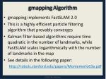 gmapping algorithm
