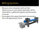 billing systems