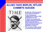 allies take berlin hitler commits suicide