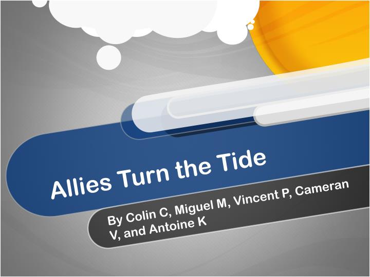 allies turn the tide n.