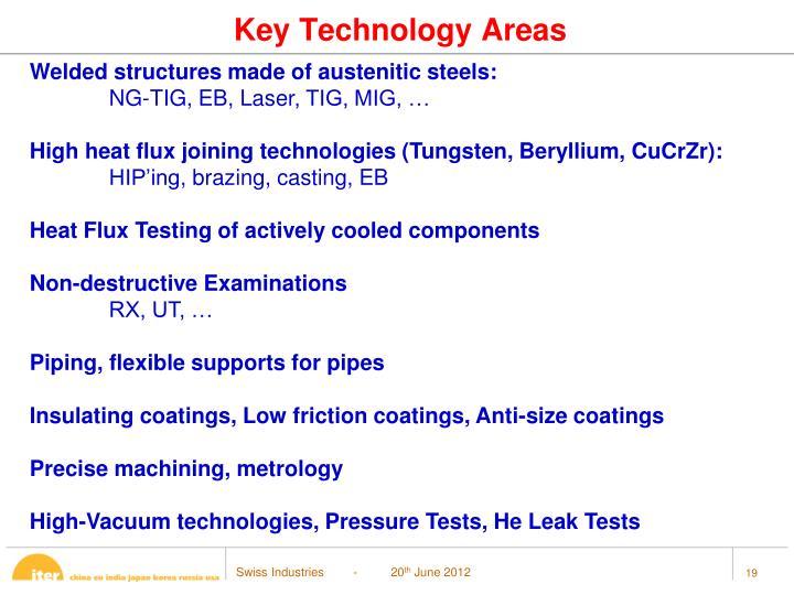 Key Technology Areas